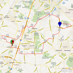 18. Bike Route Map. Cranbury NJ