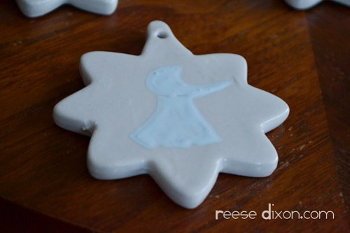Porcelain Star Ornament Tutorial Step 4