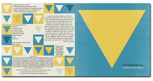 Leatherbag's 'Yellow Television' Album Art