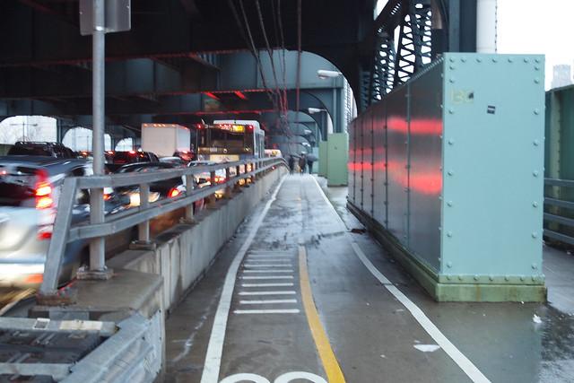 Bridge to Queens Plaza in the Rain