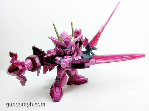 SD Gundam Online Capsule Fighter Trans Am 00 Raiser Rare Color Version Toy Figure Unboxing Review (57)