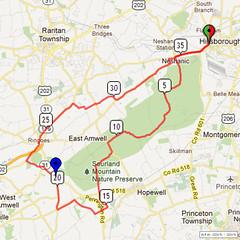 17. Bike Route Map. Somerset Valley YMCA, Hillsborough, NJ