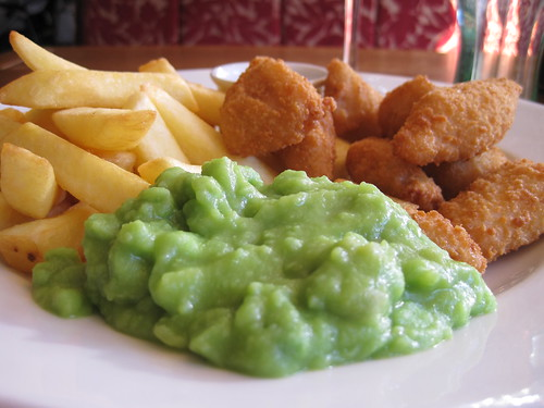 And a portion of mushy peas IMG_2032
