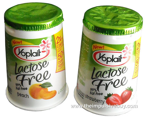 Yoplait Lactose Free 99% Fat Free Yogurt (Peach and Strawberry)