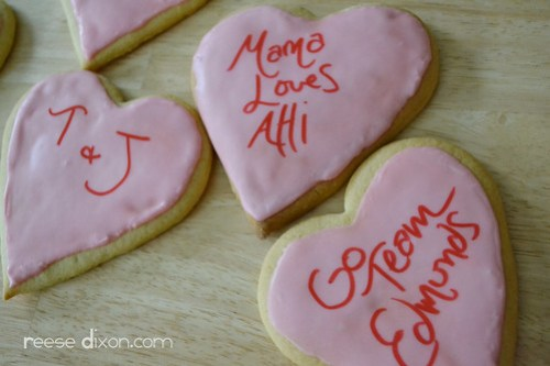 Personalized Sugar Cookie Valentines