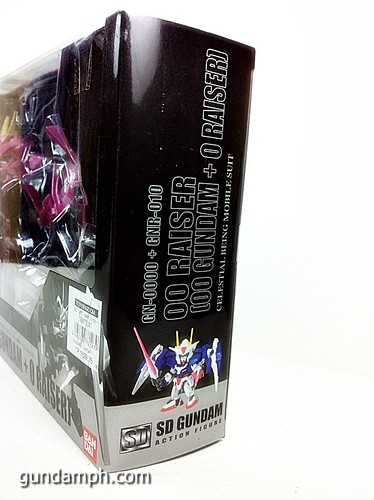 SD Gundam Online Capsule Fighter Trans Am 00 Raiser Rare Color Version Toy Figure Unboxing Review (7)