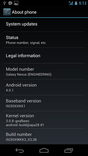 Android 4.0.1 Ice Cream Sandwich