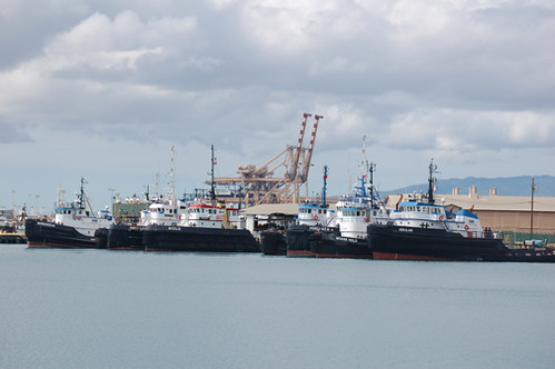 tugs in a row