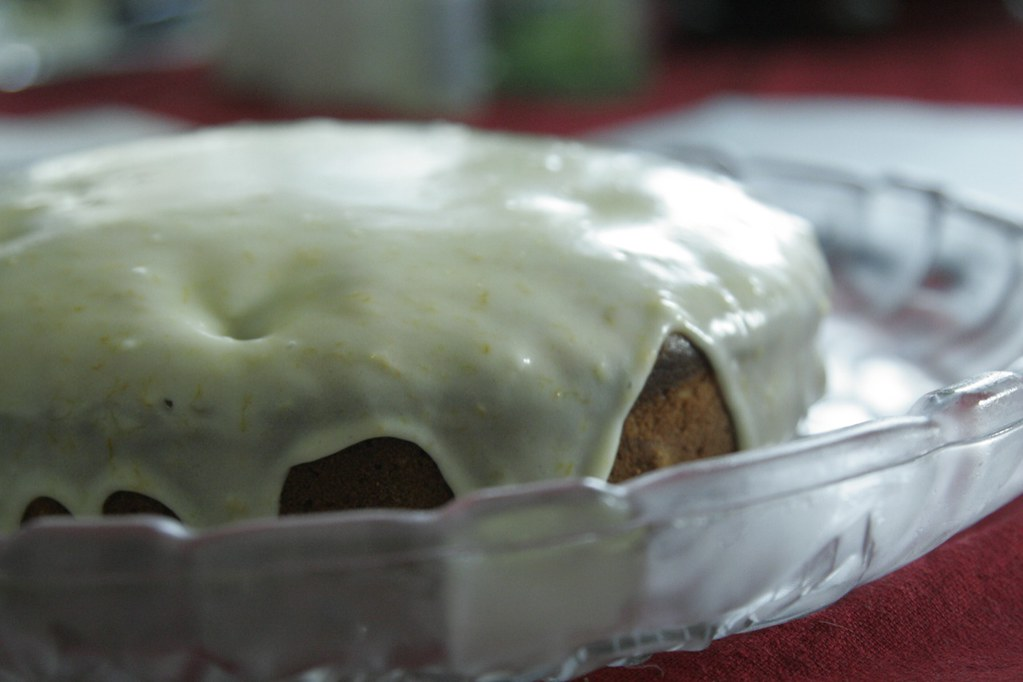 Yoghurt Cake with Orange Icing