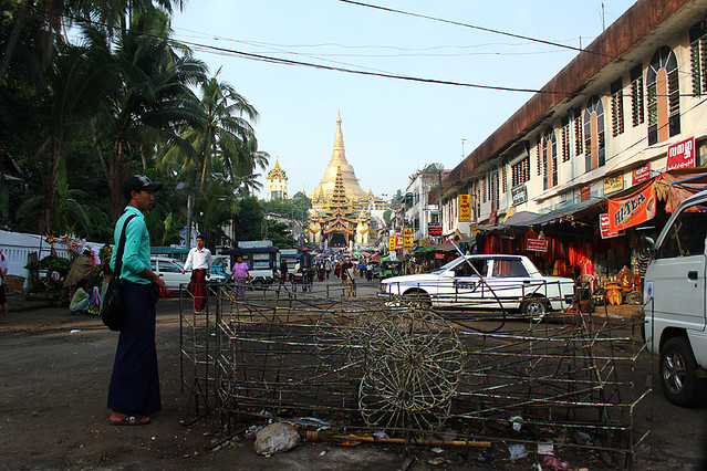 On the way to the East Gate - Swedagon Pagoda, Yangon