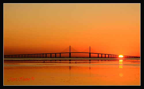 Sunrise Skyway Bridge From Fort DeSoto-Florida EXPLORED