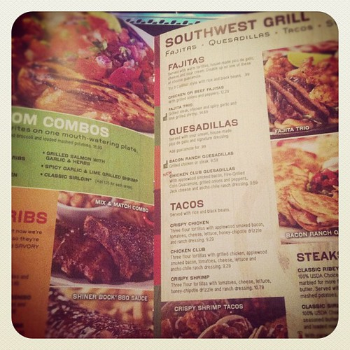 #janphotoaday Day 14: what I'm reading.  #chilis menu.