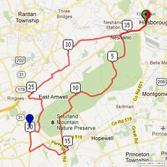 18. Bike Route Map. Somerset Valley YMCA, Hillsborough, NJ
