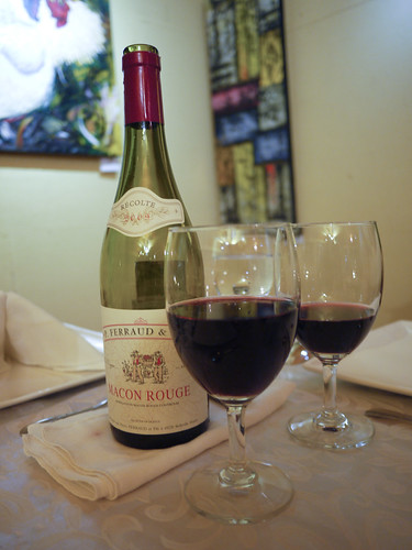 Have some wine at Le Bistro D'Agathe