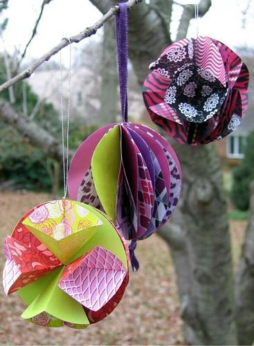 Honeycomb paper ornaments diy