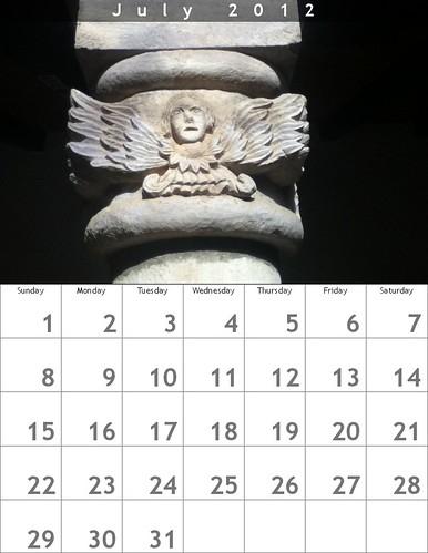 Free Download: Oaxaca Calendar July 2012 made with @bighugelabs