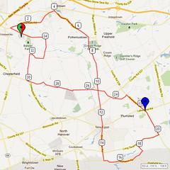17. Bike Route Map. Hamilton Area YMCA, Crosswicks, NJ