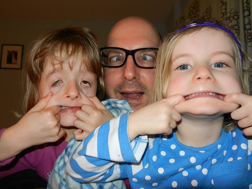 Millie, me & Amber - funny faces