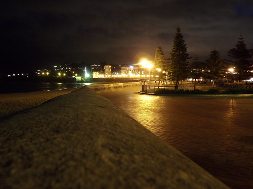 Coogee promenade at night