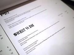 Sweet wine menu, Esquina Tapas Bar, Jiak Chuan Road, Keong Saik, Tanjong Pagar