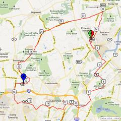 11. Bike Route Map. Princeton NJ