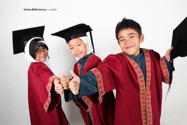 (Congrats Lil Grads | Graduation Studio Portraiture
