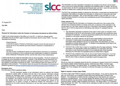SLCC refusal to release compensation awards info
