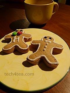 These two gingerbread men aren't running anywhere.