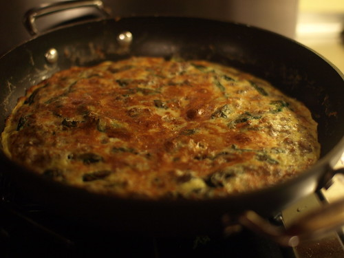 Spinach and sausage frittata by ted_major