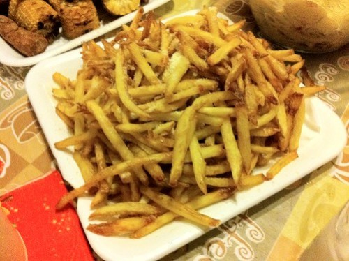 Three times cooked fries