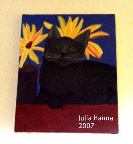 Kitten Oil Painting by Julia Hanna