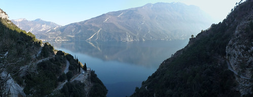 view of the lake from Valle del Ponale