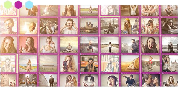 Custom-Color Mosaic Pop Photos Displays 2