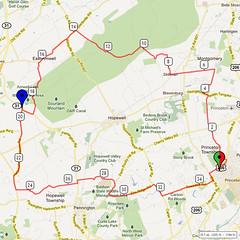 16. Bike Route Map. Princeton NJ