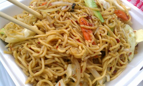 Yakisoba Noodles from Sanjai's Teriyaki