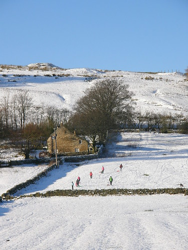 The sledging field from Mohope Burn