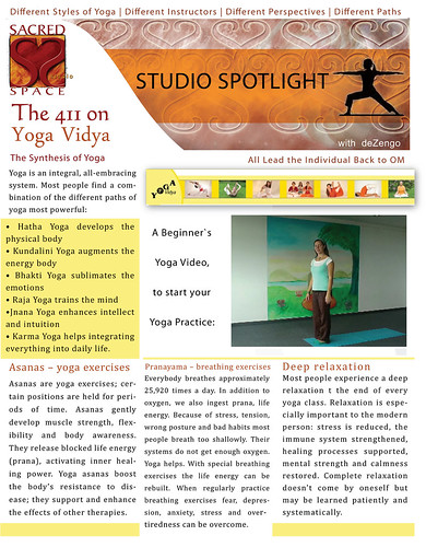 SACREDspace : January 1/2 2012 - Yoga Vidya (pg1) by deZengo