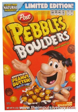 Post Limited Edition Chocolate Peanut Butter Pebbles Boulders