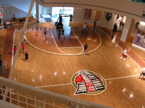 Basketball court at Basketball Hall of Fame | Flickr ...