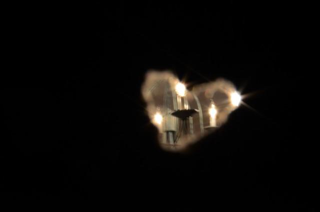 Heart cutout lights
