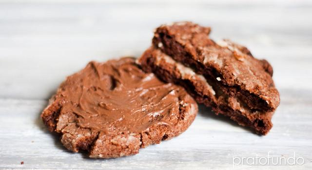 Cookies de Chocolate & Creme de Avelã / Chocolate & Hazelnut Spread Cookies