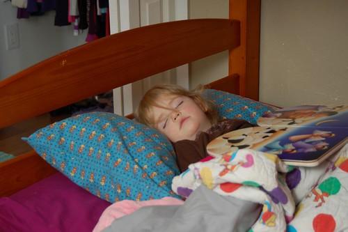 Sleeping Book Reader