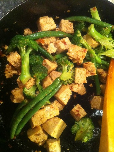 Tofu, String Beans, Broccoli by mscreation101