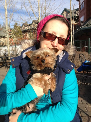 Me and Toby the cutest dog in Tahoe