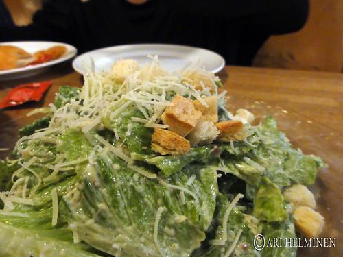 caesar salad at zest cantina Ebisu