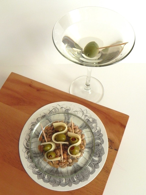 Dirty Martini and Olive Cheese Picks