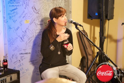 Rico Blanco and Amber Davis at Coke Music Studio - 6