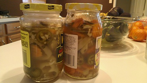 jars of picked peppers