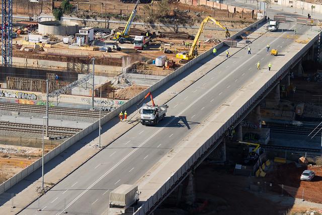 Antiguo puente del Trabajo - Comienzan los trabajos de demolición - 30-01-12