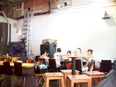 Interior with plush monkey, Jimmy Monkey Cafe & Bar, One-North Residences